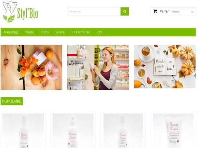 boutique de cosmétiques bio